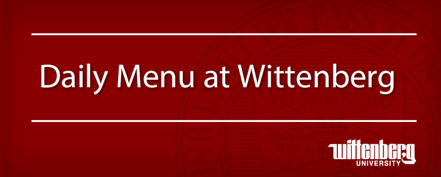 Wittenberg Daily Menu Graphic