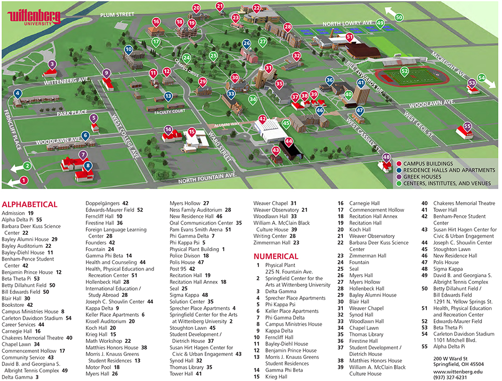 Homecoming Parking / Maps | Wittenberg University
