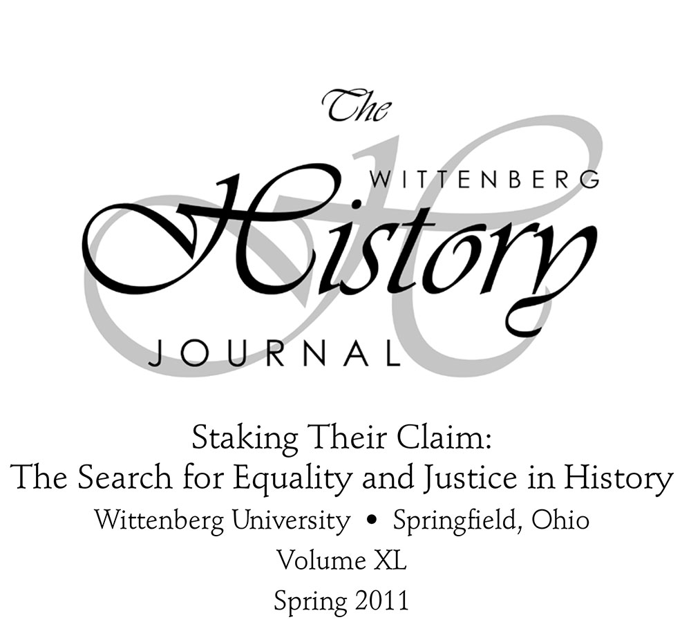 2011 History Journal Cover