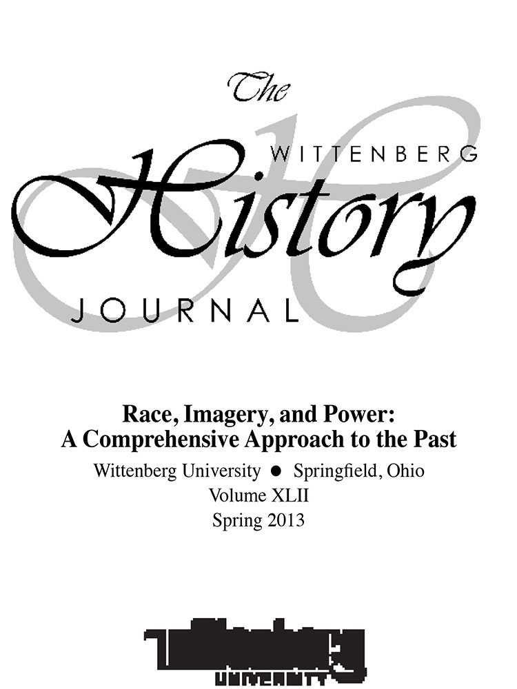 2013 History Journal Cover