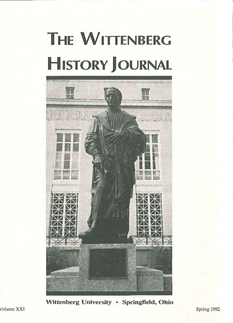 1992 History Journal Cover