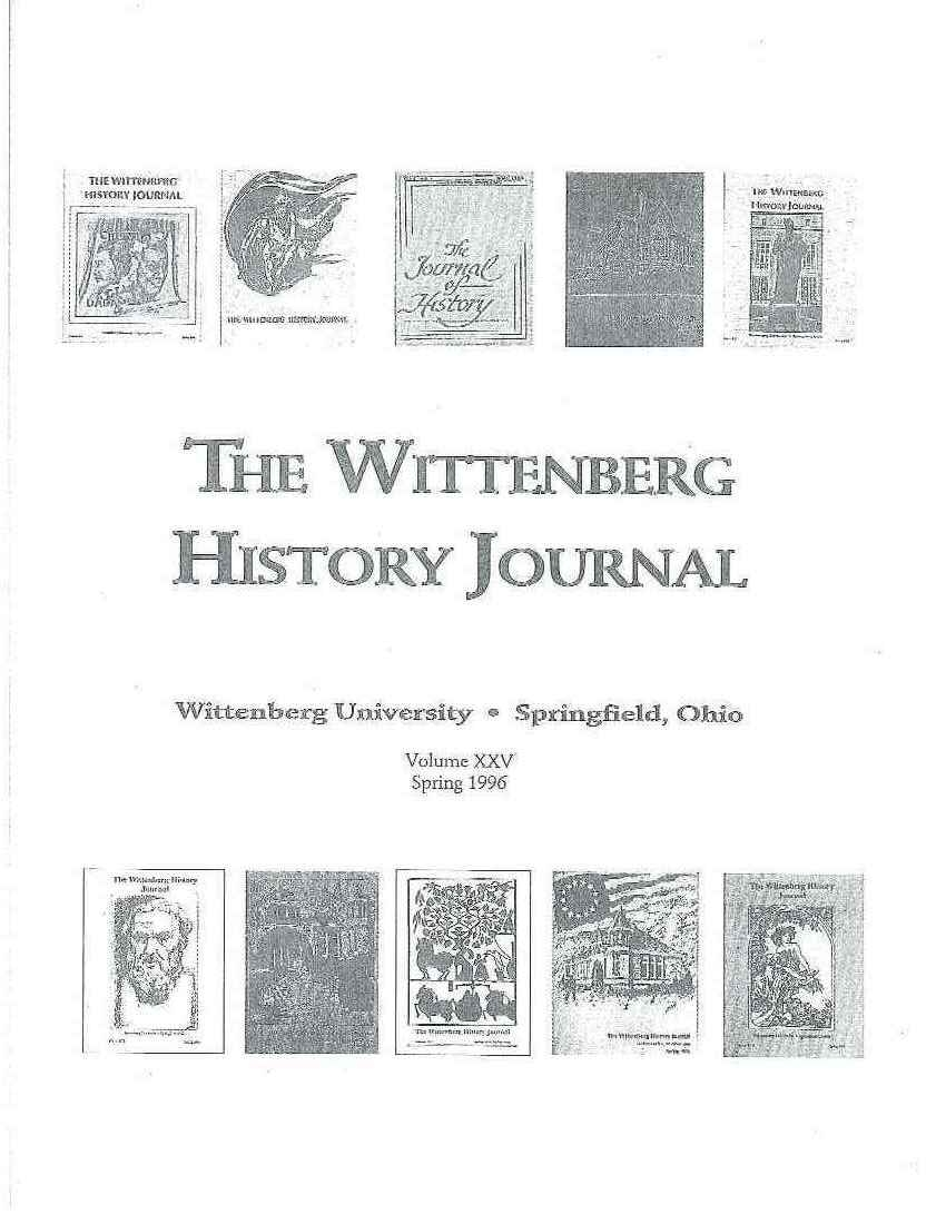 1996 History Journal Cover