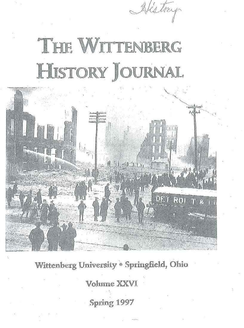 1997 History Journal Cover
