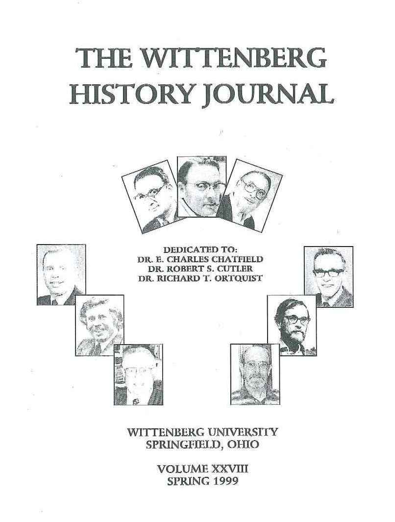 1999 History Journal Cover
