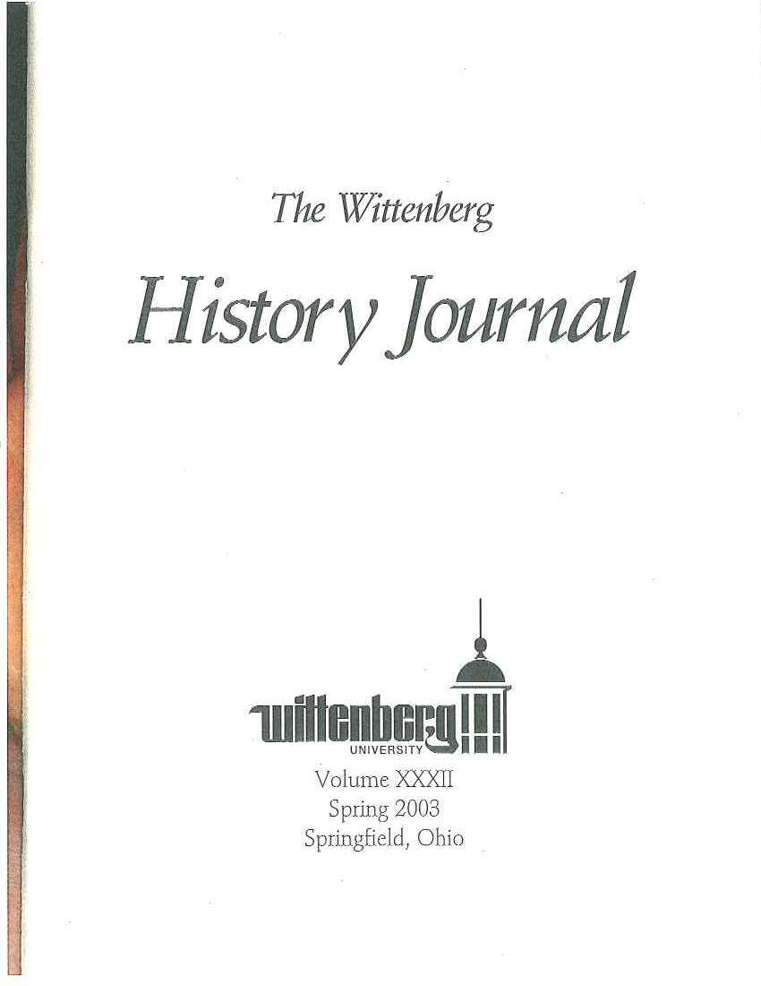 2003 History Journal Cover