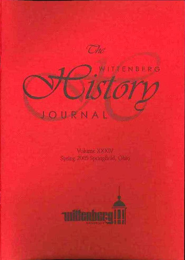 2005 History Journal Cover