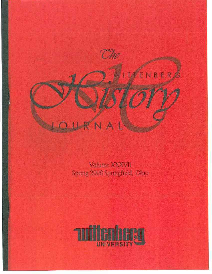 2008 History Journal Cover