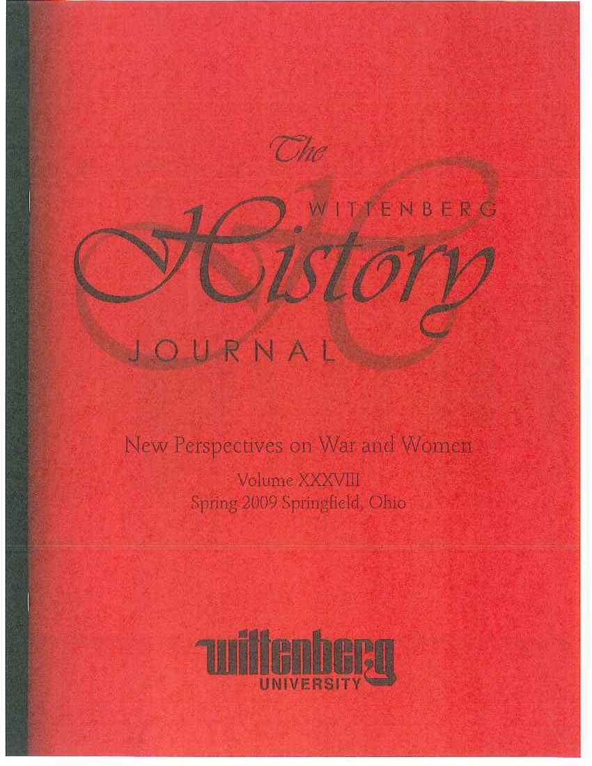 2009 History Journal Cover