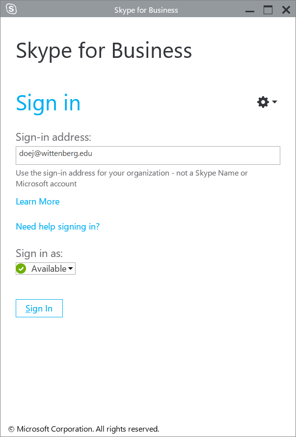 Skype for Business (Windows)