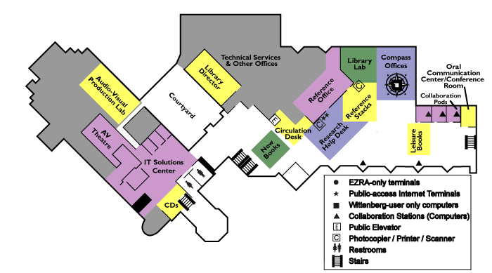Library Map - Second Floor