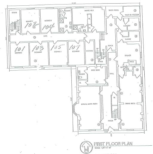 Campus Ministries House First Floor Plan