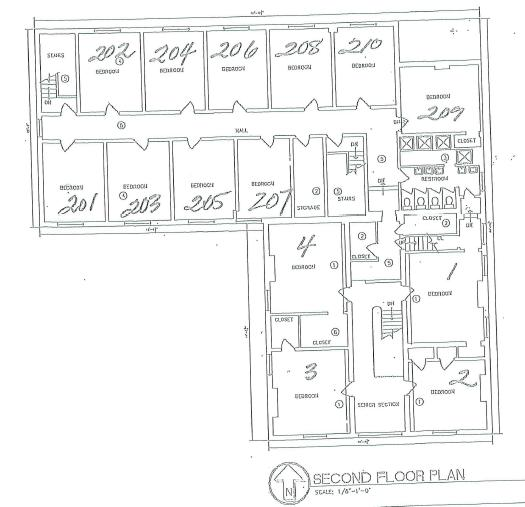 Campus Ministries House Second Floor Plan