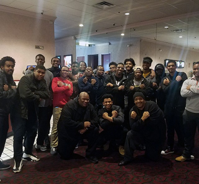 Students at Black Panther Screening
