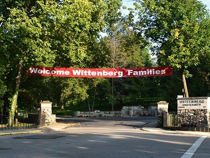 Wittenberg University Welcome Banner