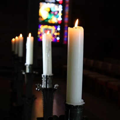 Candles in Weaver Chapel