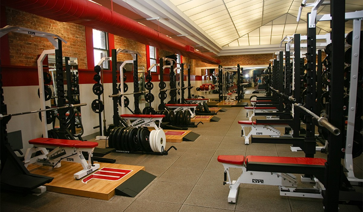 Athletes weight room
