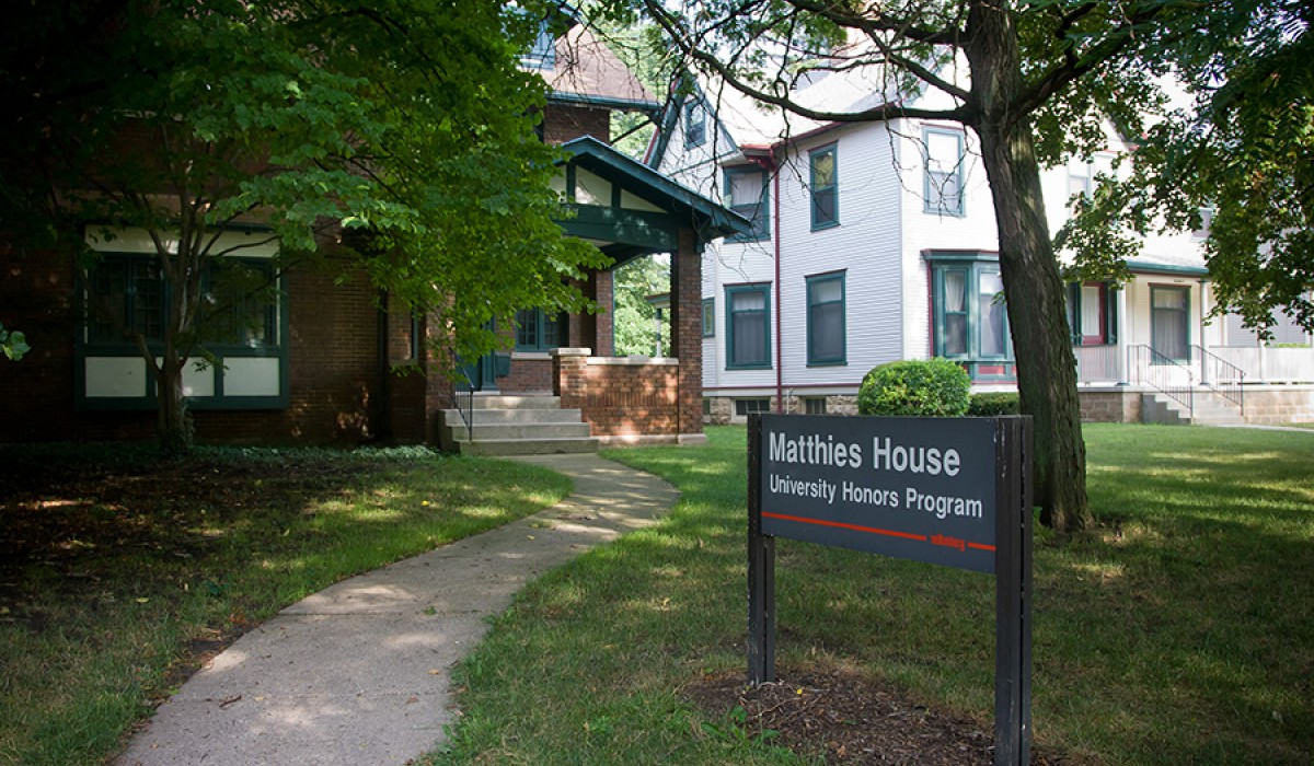 Matthies House sign