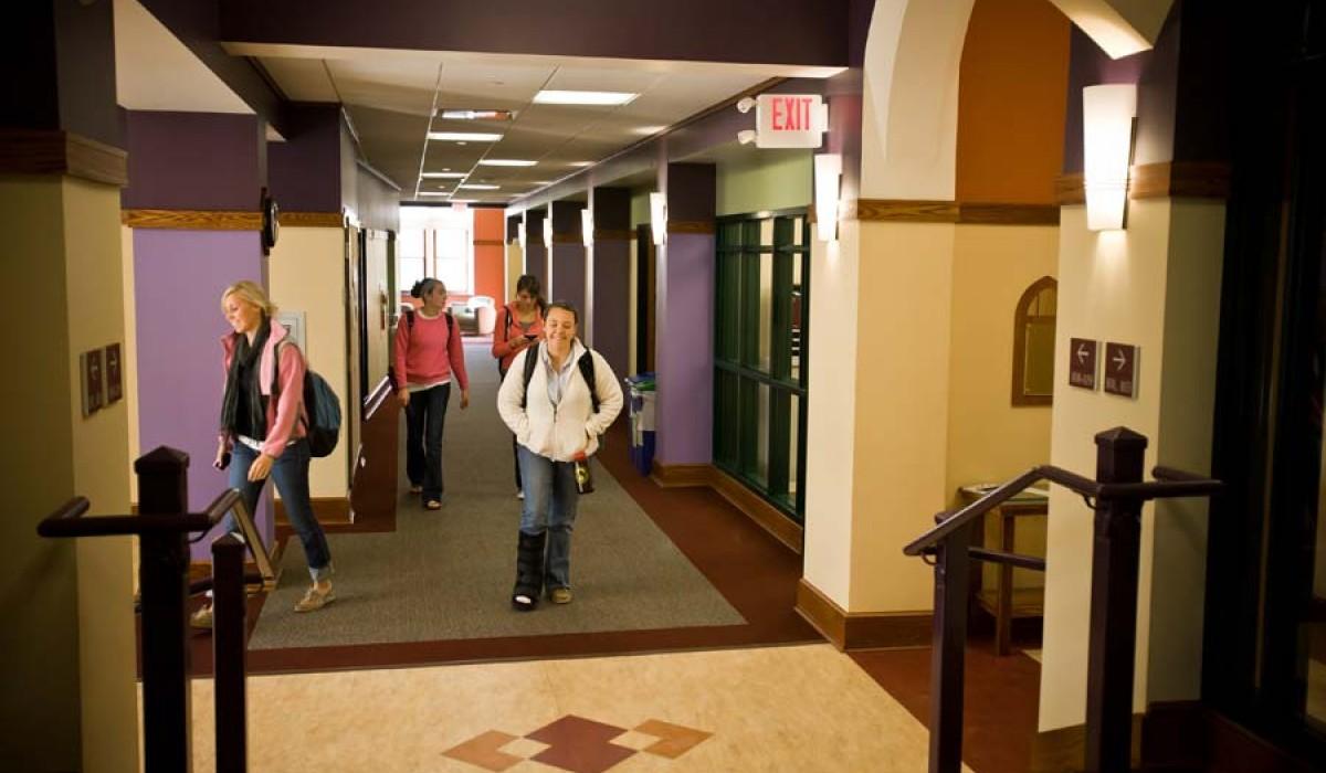 Hallway inside Blair Hall