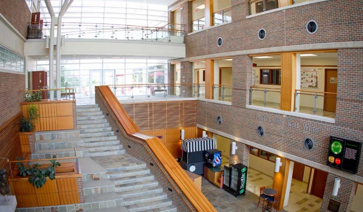 Barbara Deer Kuss Science Center Atrium Steps View