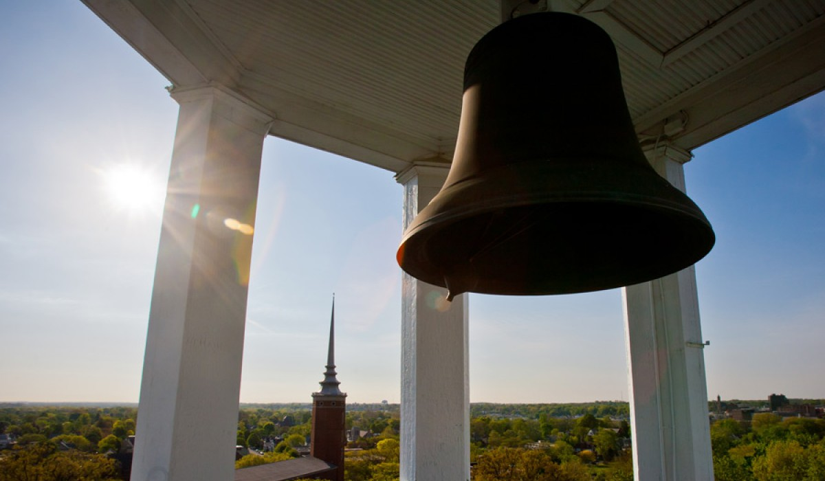 The bell atop Myers Hall