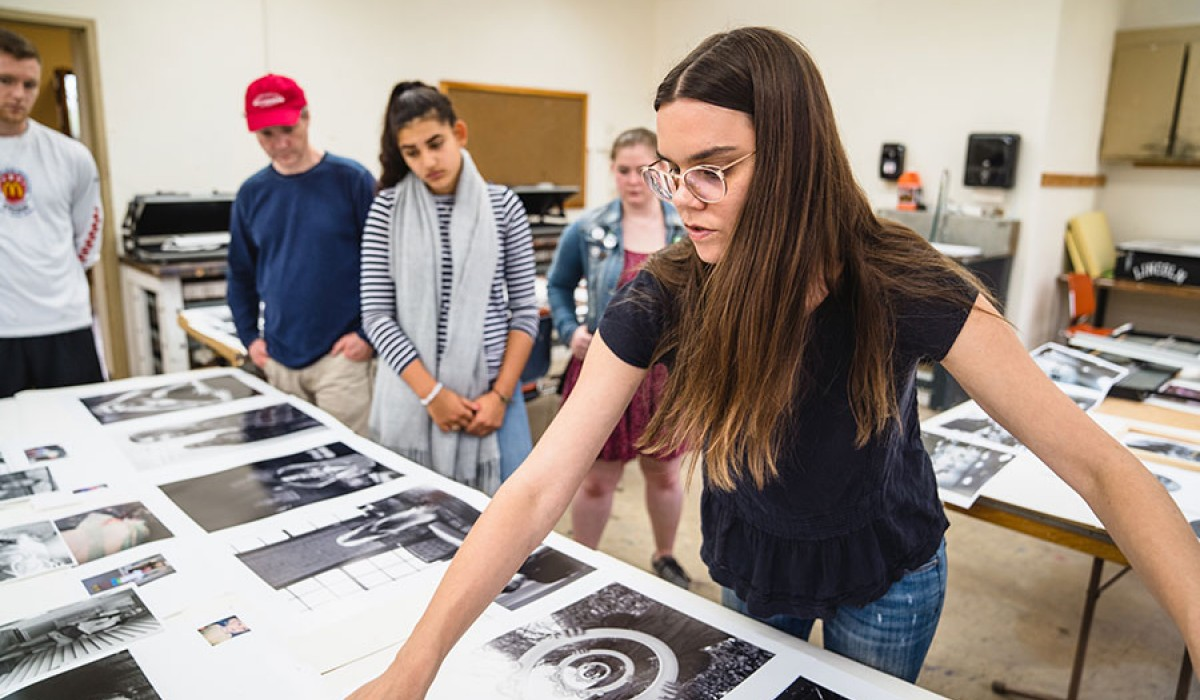 Students at work in the Art Department