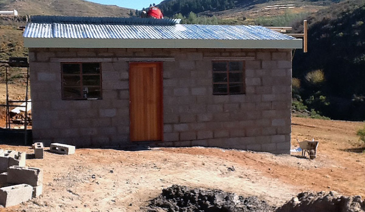 Completed House in Lesotho