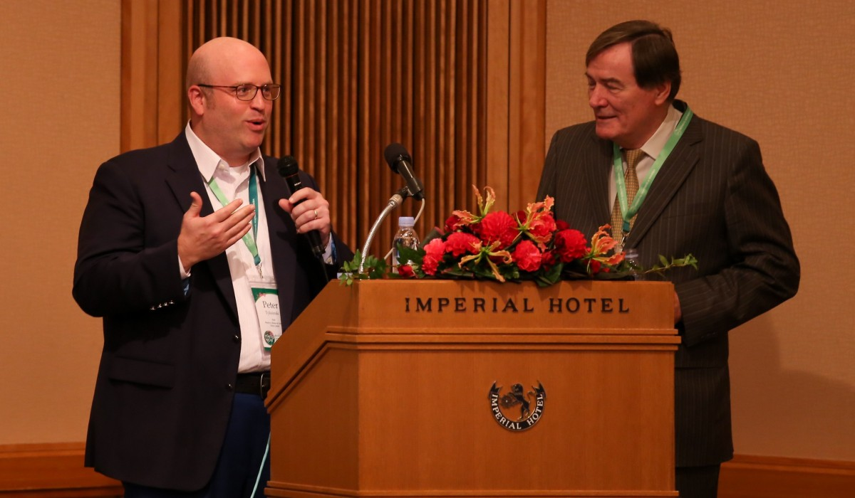 Peter Tyksinski hosting Interlaw's Annual General Meeting in Tokyo in 2016