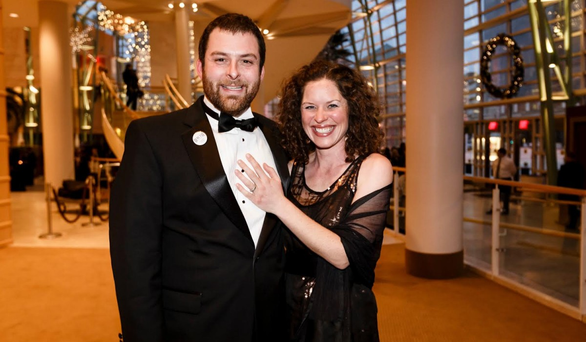 Luke Dennis with his wife Sally