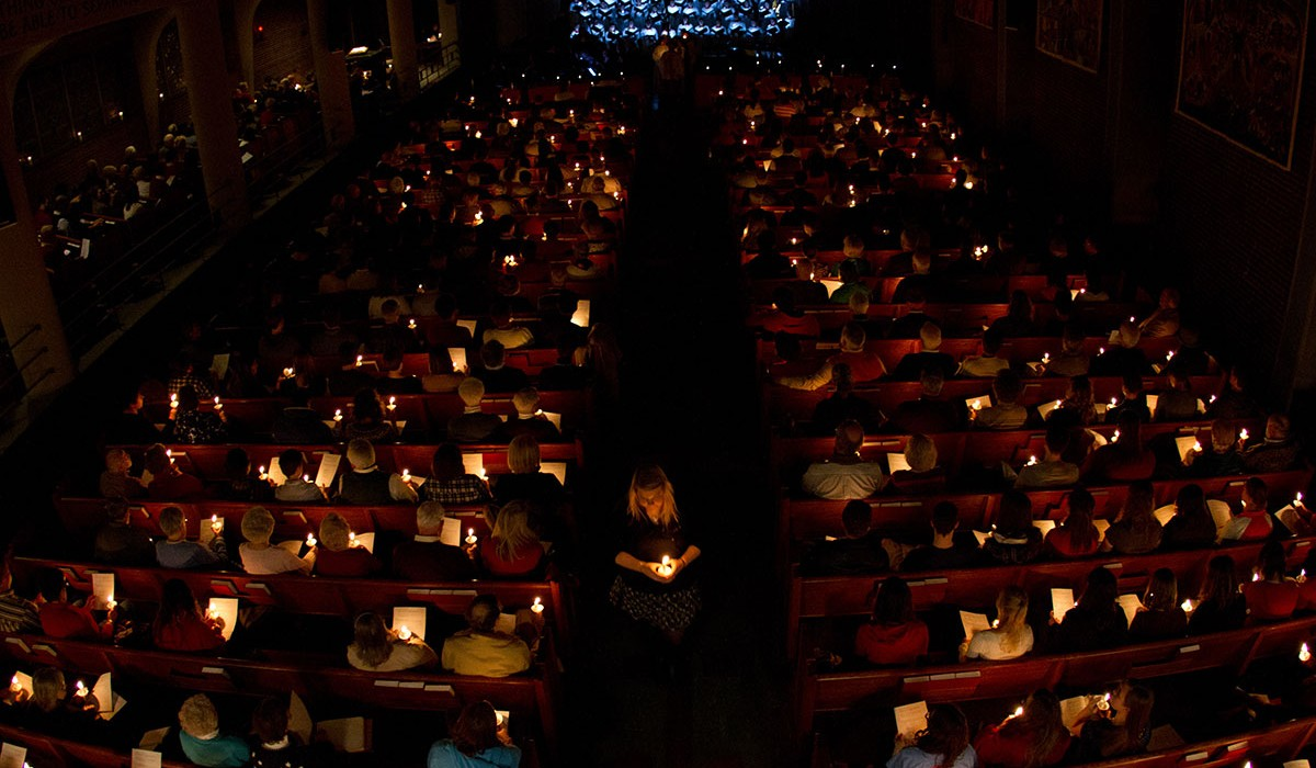 Candle Lighting During Lessons and Carols