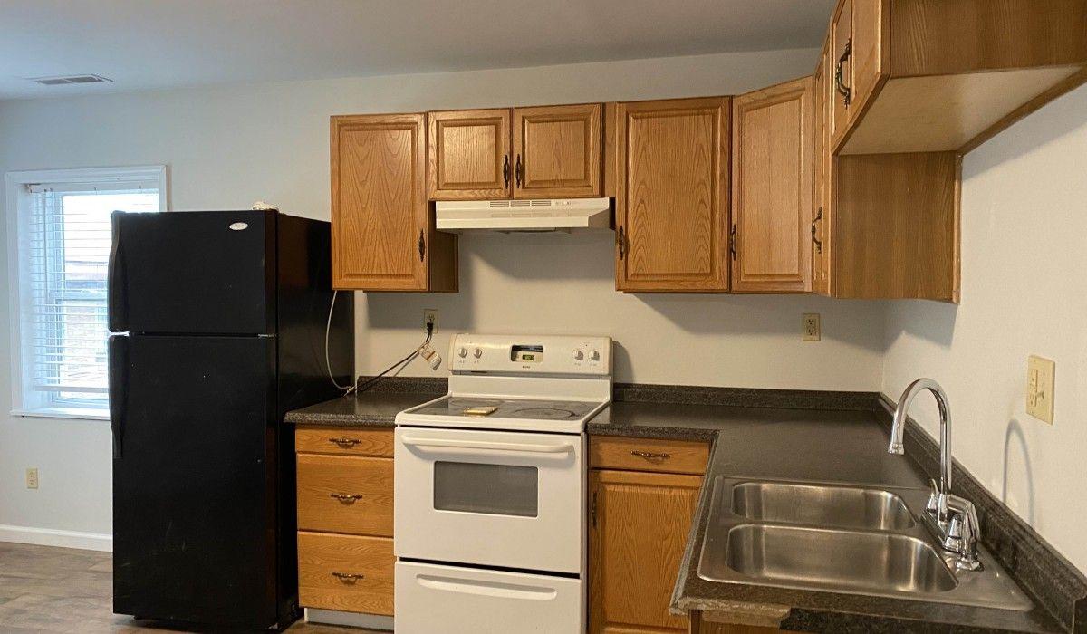 Upper-level kitchen