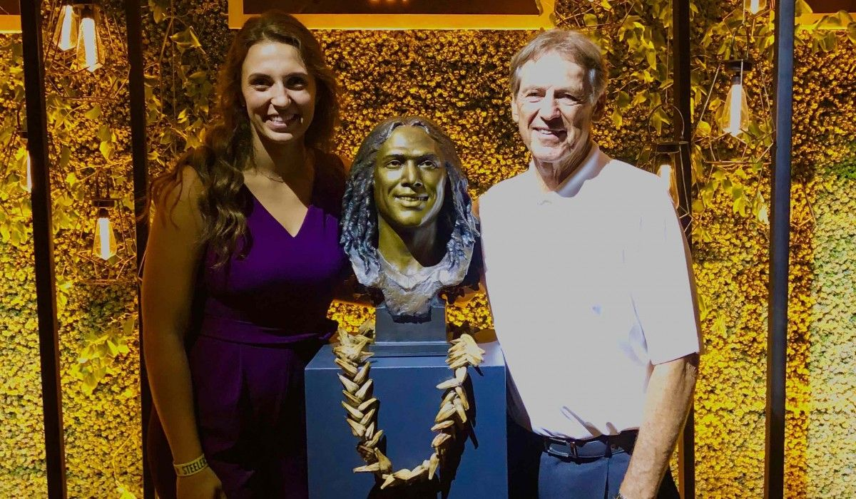 Katie Hiestand '22 with Coach Dick LeBeau